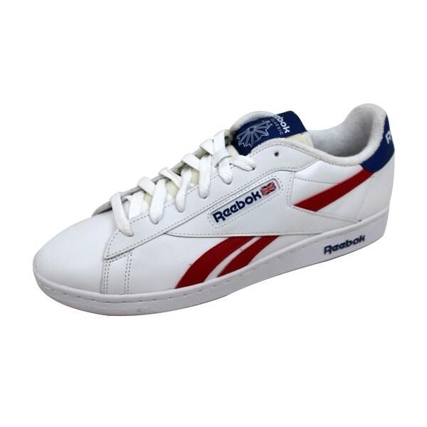 Reebok Men's NPC UK Retro White/Collegiate Royal-Red AR2786 Size 11