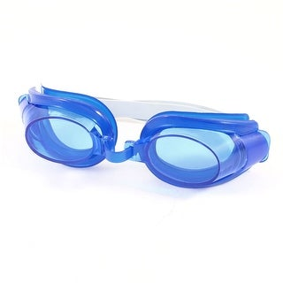 Child Kids Adjustable Headstrap Blue Swimming Goggles Eyeglasses