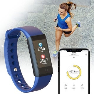 Universal Healthy Fitness Tracking Smart Band for iOS & Android [Blood Pressure + Heart Rate Monitor + Pedometer + SPO2 Monitor]