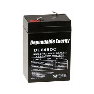 Gsm outdoors de30052 american hunter battery rechargeable 6v 4.5amp f-tab