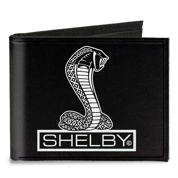 Shelby Tiffany Box Black White Canvas Bi Fold Wallet One Size - One Size Fits most