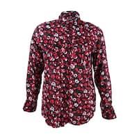 Lauren by Ralph Lauren Women's Floral Button-Down Shirt - Red Multi