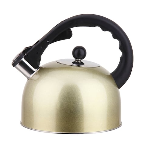 Stainless Steel Stovetop Whistling Tea Kettle 3L, Induction Compatible