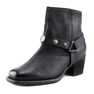 OTBT Dugas Women Square Toe Synthetic Black Ankle Boot