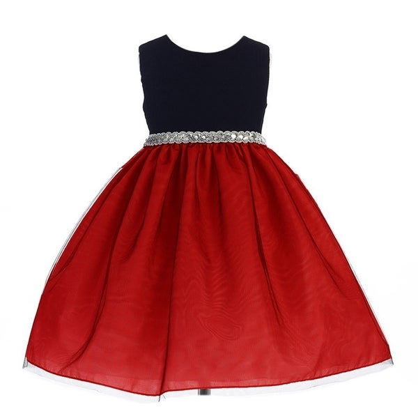 9573393ae6f Shop Crayon Kids Little Girls Red Glitter Bejeweled Waist Flower Girl Dress  - Free Shipping On Orders Over  45 - Overstock - 18163525