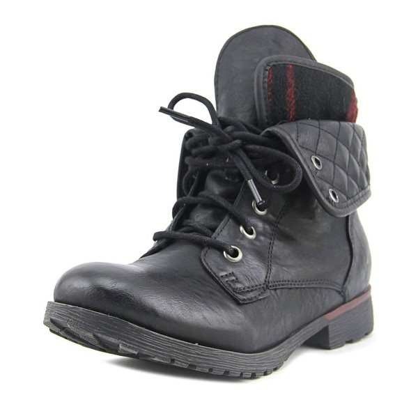 Rock & Candy Spraypaint Quilted Black/Black/Red Boots