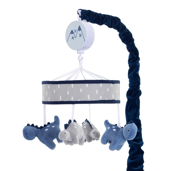 Lambs & Ivy Baby Dino Blue/Gray Dinosaur Musical Baby Crib Mobile Soother Toy. Opens flyout.