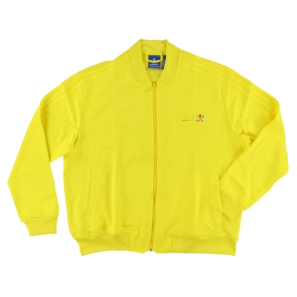17b694d55b5a Shop Adidas Mens Monochrome Supercolour Track Jacket Bright Yellow - Bright  Yellow - Free Shipping Today - Overstock - 22545390