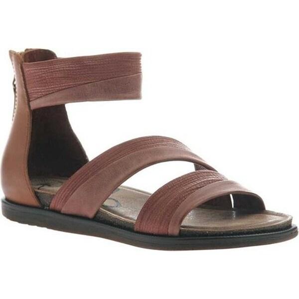 9a6605b24cb Shop OTBT Women s Souvenir Flat Sandal Sangria Leather - Free Shipping  Today - Overstock - 20747121