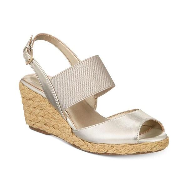Bandolino Womens Himeka Peep Toe Casual Espadrille Sandals