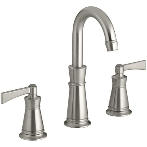 Kohler K-11076-4 Archer Widespread Bathroom Faucet with Ultra-Glide Valve Technology - Free Metal Pop-Up Drain Assembly with