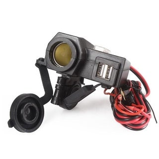 Motorcycle Cigarette Lighter Dual USB GPS Power Socket Charger