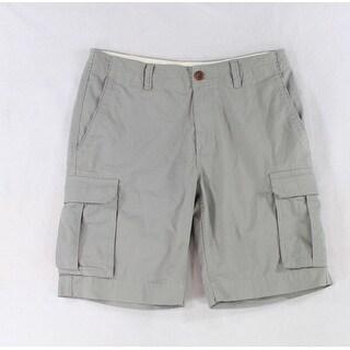 Tommy Hilfiger NEW Beige Mens Size 33 Six Pocket Flat-Front Cargo Shorts
