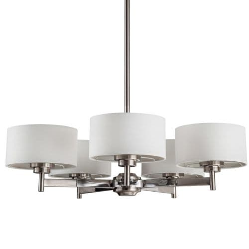 "Park Harbor PHHL6295 Highfield 25"" Wide 5 Light Single Tier Empire Style Chandelier with Drum Shade - Thumbnail 0"