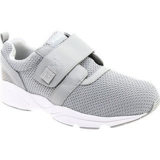 Propet Men's Stability X Hook and Loop Sneaker Light Grey Mesh