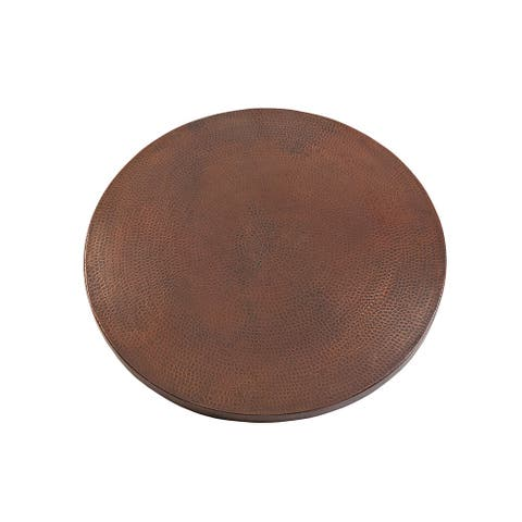 Premier Copper Products TTR24DB 24-inch Round Hammered Copper Table Top
