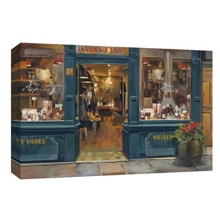 """PTM Images 9-153805  PTM Canvas Collection 8"""" x 10"""" - """"Parisian Wine Shop"""" Giclee Buildings and Landmarks Art Print on Canvas"""