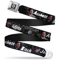 Winchester Logo Full Color Black White Supernatural 4 Character Poses Seatbelt Belt