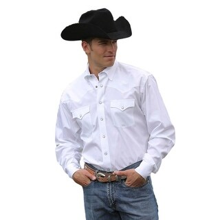 Miller Ranch Western Shirt Mens Long Sleeve Woven White DTW2201034
