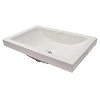 """DecoLav 14107 Breanna 23-5/8"""" Vitreous China Semi-Recessed Rectangular Lavatory with Overflow - Ceramic White - N/A"""