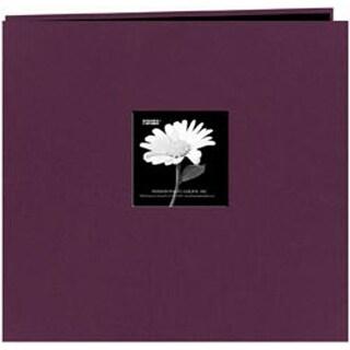 "Wildberry Purple - Fabric Frame Post Bound Scrapbook 12""X12"""