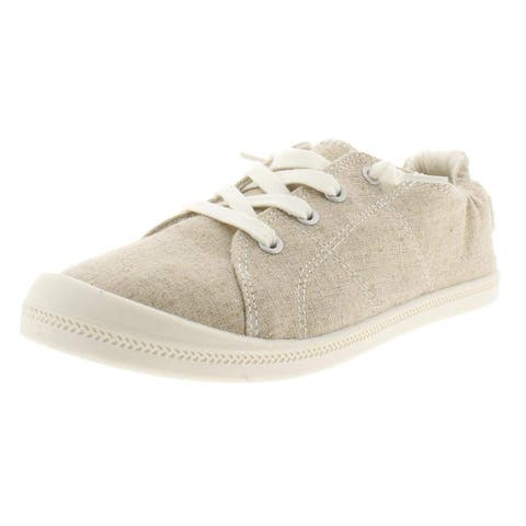 Material Girl Womens Brooke Canvas Padded Insole Casual Shoes - 6.5