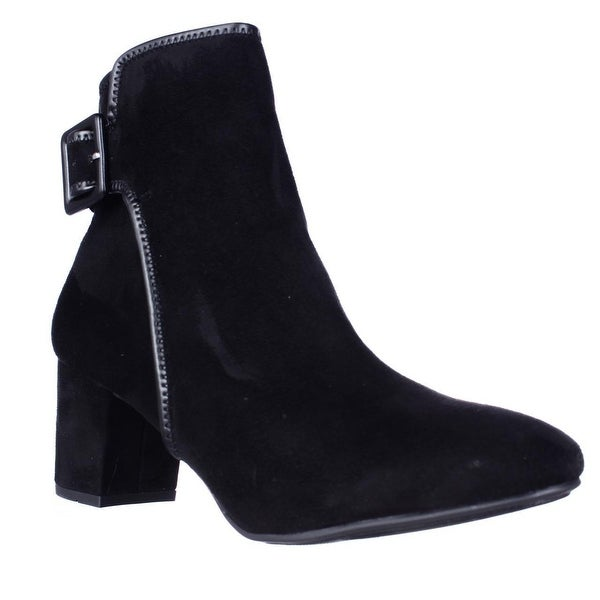 White Mountain Callaway Buckle Ankle Boots, Black