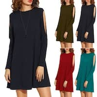 Almondina Cutout Sleeve Tunic Dress in 5 Colors