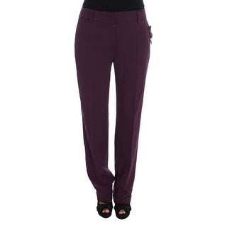 Cavalli Cavalli Purple Polyester Blend Straight Dress Pants - it46-xl