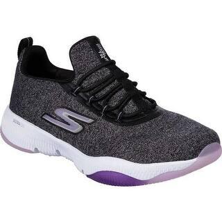 304b3e1f0aa Skechers Women s GOrun TR Exception Running Shoe Black Lavender