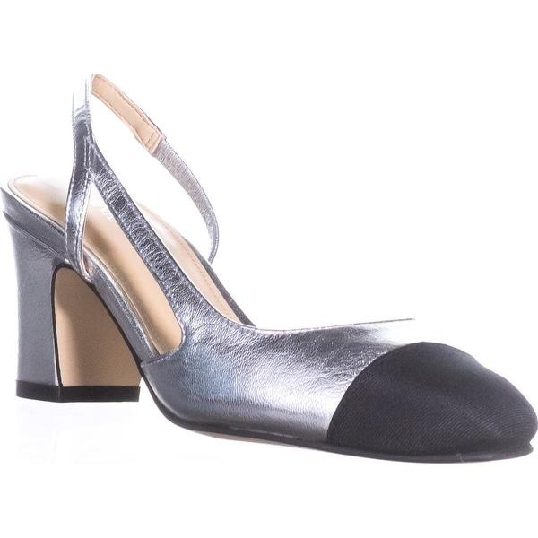 Ivanka Trump Liah Slingback D'Orsay Heels, Silver Multi