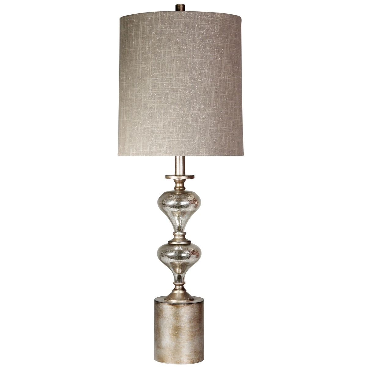 Delacora Sc L33452 Milam 34 Tall Buffet Table Lamp With Hardback Fabric Shade Mercury Overstock 25653082
