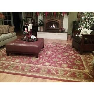 Safavieh Handmade Heirloom Red Wool Rug (9' x 12')