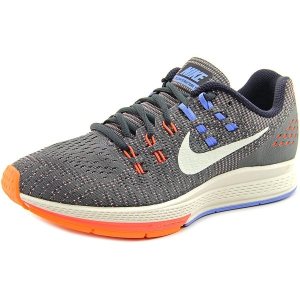 Nike Air Zoom Structure 19 Women Round Toe Synthetic Gray Running Shoe