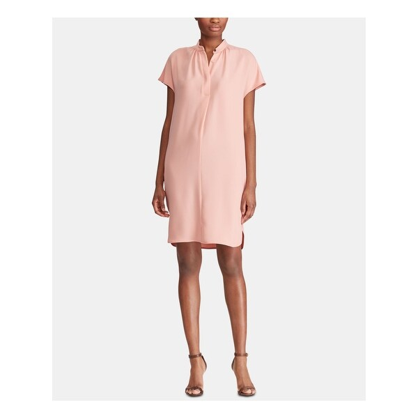 RALPH LAUREN Pink Short Sleeve Knee Length Dress 18. Opens flyout.