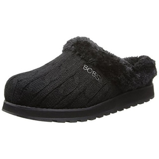 Skechers Womens Keepsakes Delight Cable Knit Indoor/Outdoor Scuff Slippers