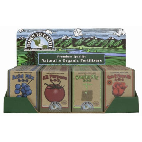 Down To EarthA¢ 17800 Natural & Organic Fertilizers, 1 lb, 24-Piece