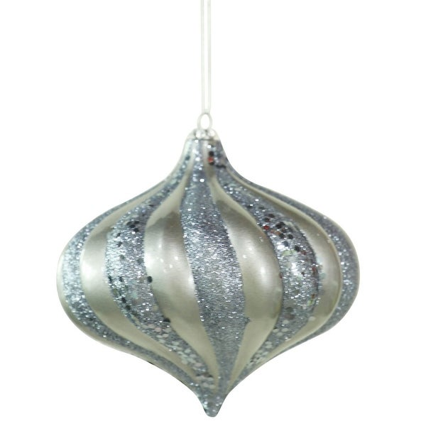 "6"" Pewter Swirl Candy Glit Onion"