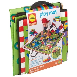 Link to ALEX Toys Little Hands Play Mat and Tote, 36x36 Inches, Ages 0 and up - Green Similar Items in Activity Gear