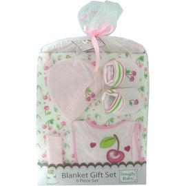 6 Piece Blanket Gift Set in Pink by Snugly Baby