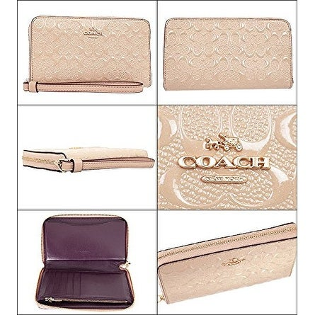 Coach Signature Debossed Patent Phone Wallet - F57469 IMLH4
