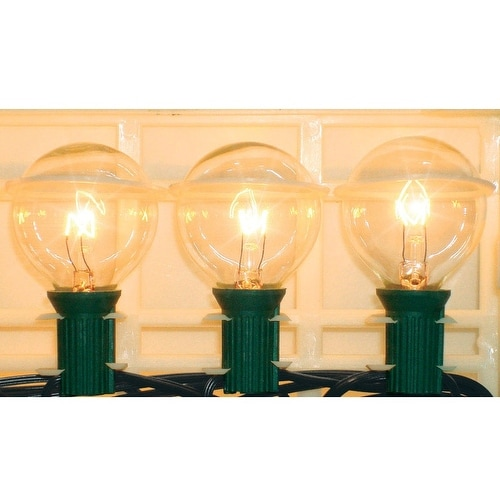Living Accents 642GV111 Clear Globe Light Set, 19'
