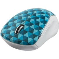 Verbatim Wireless Multi-Trac Blue LED Mouse, 99745, Diamond Pattern, Blue