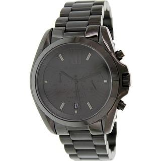 Michael Kors Mens Bradshaw  Black Stainless-Steel Quartz Fashion Watch Analog