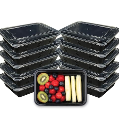 Premius 1 Compartment Meal Prep Food Containers, 4 Cups, 10-Pack - 9x5x2