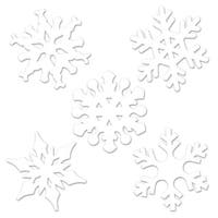 Club Pack of 24 Winter Wonderland Themed White Mini Snowflake Cutout Decorations 4.5""