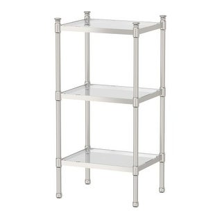 Gatco 1352 Traditional 3-Tier Chrome Rectangle Cabinet