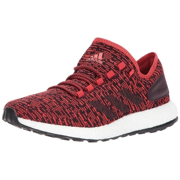 Adidas Mens PUREBOOST Fabric Low Top Lace Up Running Sneaker, Red, Size 7.0