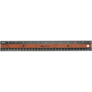 "Faux Wood Inlay Ruler 12""-Black"