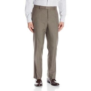 Perry Ellis NEW Brown Chinchilla Mens Size 32X32 Dress Flat Front Pants